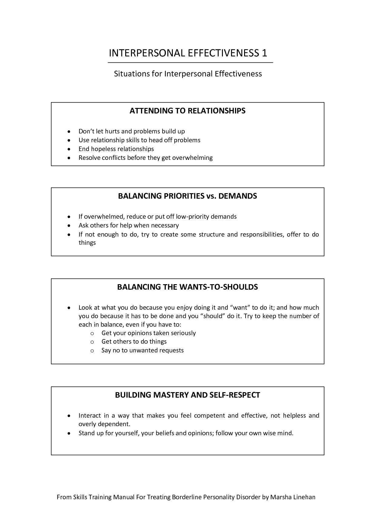 Core Mindfulness Worksheets