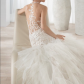 The bustle wedding dresses  Demetrios Wedding Dress  Bustle White lace and Illusions