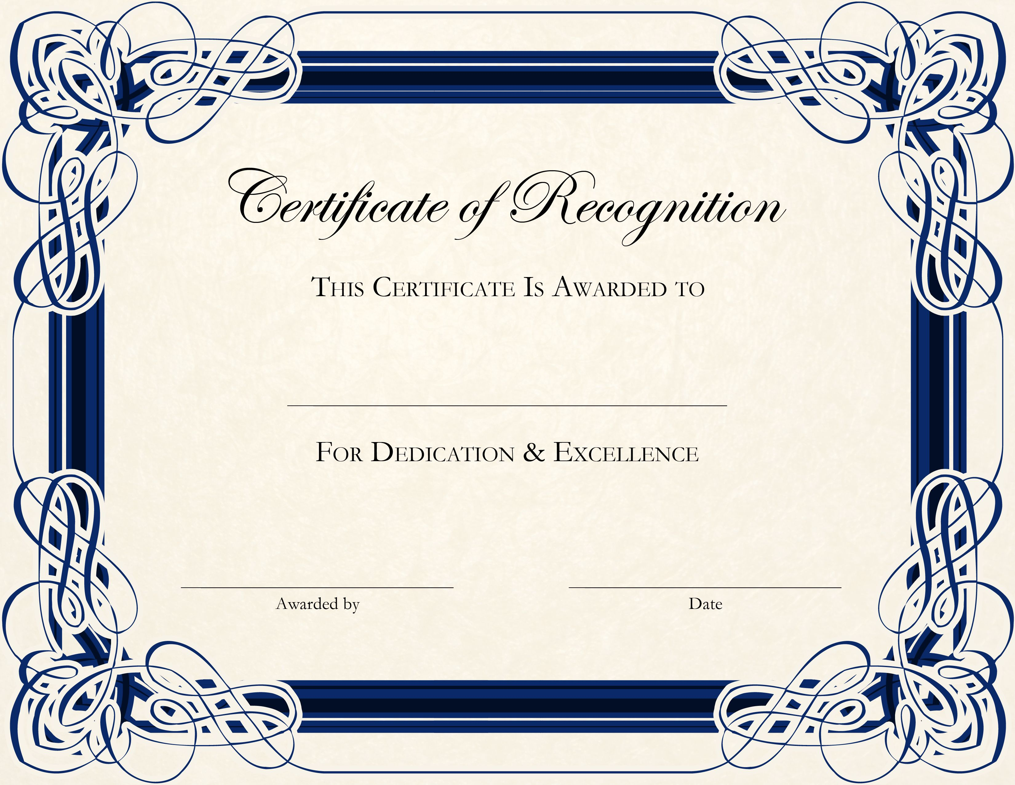 certificate template ms word – Microsoft Certificate of Excellence