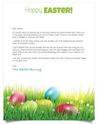 Easter bunny letter template free merry christmas and happy new easter bunny letter template free spiritdancerdesigns Image collections
