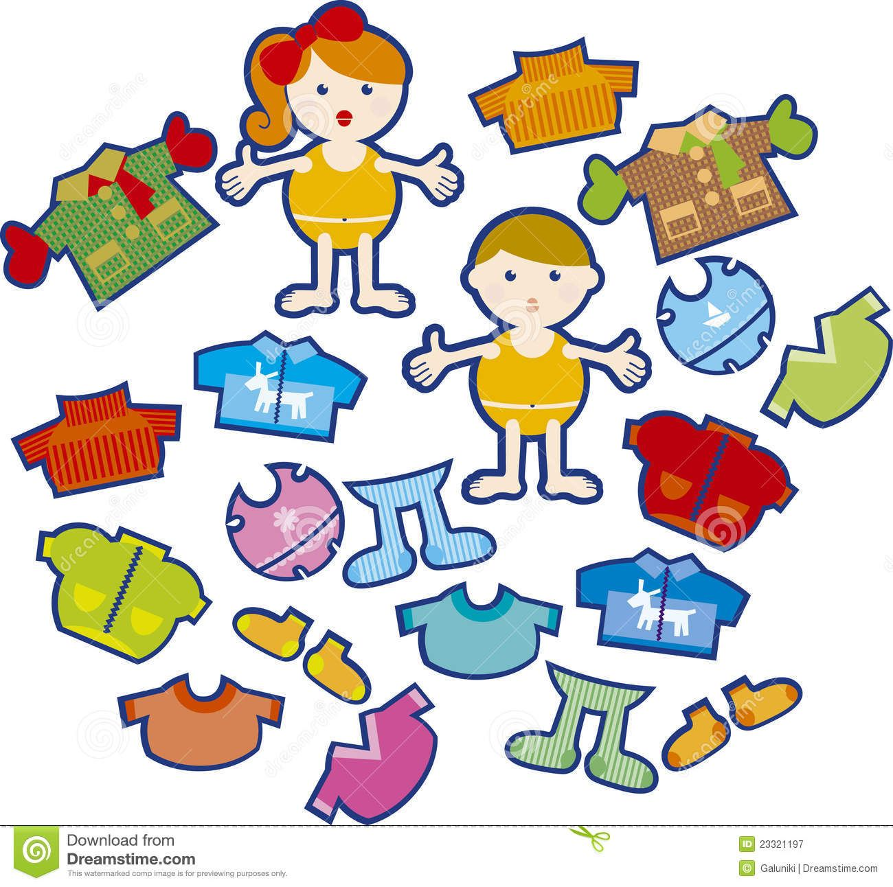 Clothing Rack Clipart Kids Wearing