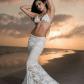 Lace wedding dress designers  Beach Wedding Dress Lace Wedding Dress Designer Dress Mermaid