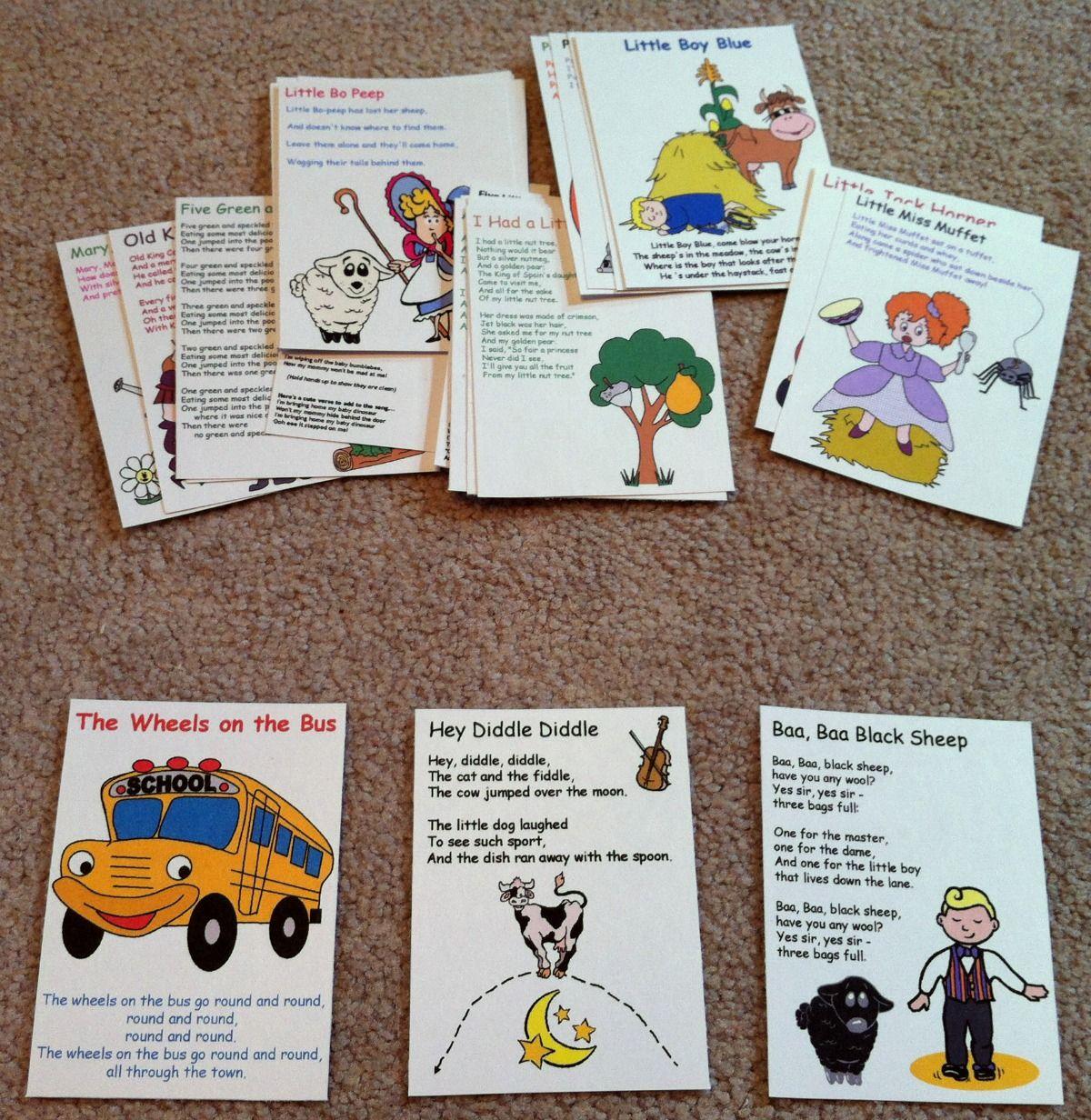 Busy Bag Nursery Rhymes And Songs Flashcards 1 200 1 232 Pixels