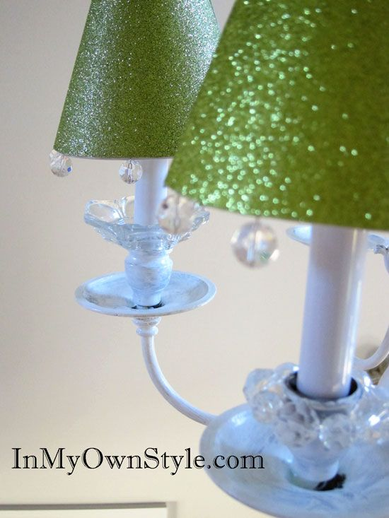 Crafty Glitter Chandelier Lampshades