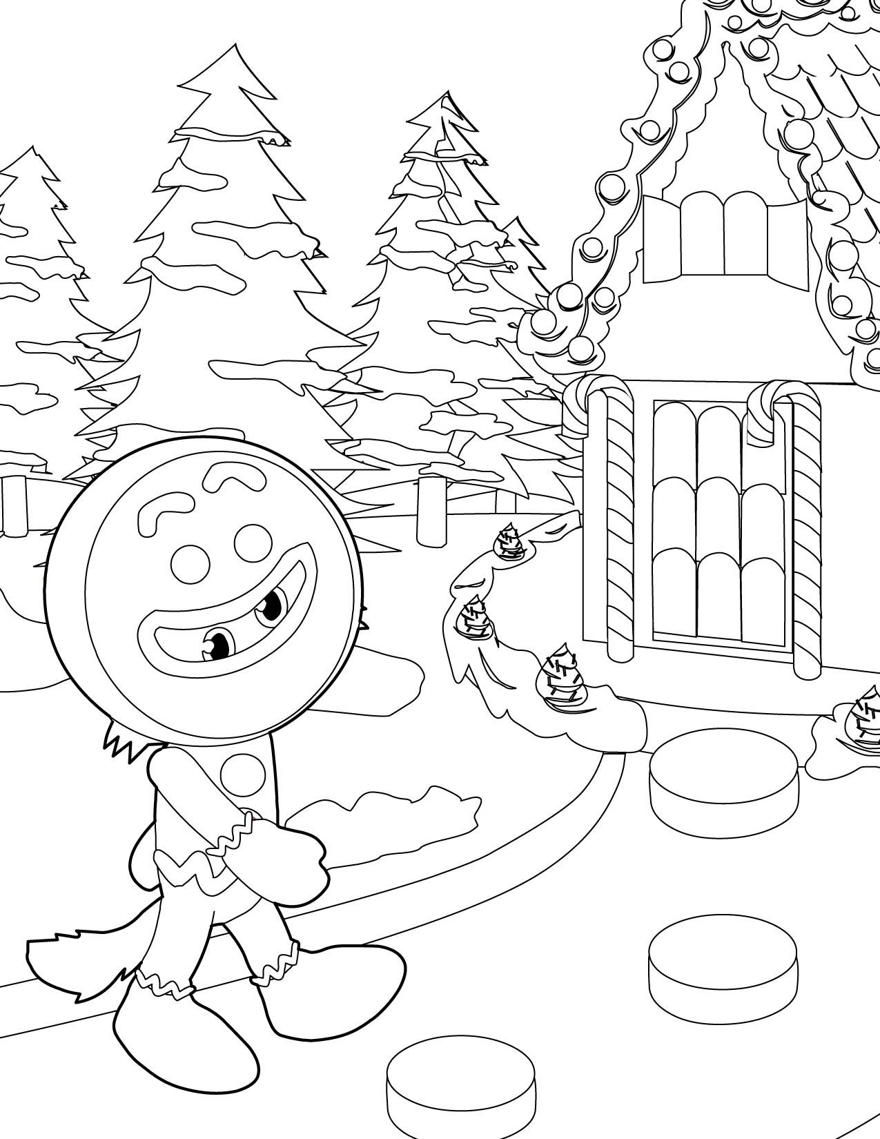 Gingerbread Houses Coloring Pages 1275×1650 Coloring Pages