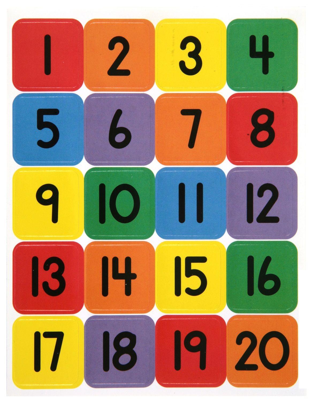 1 20 Number Chart For Preschool
