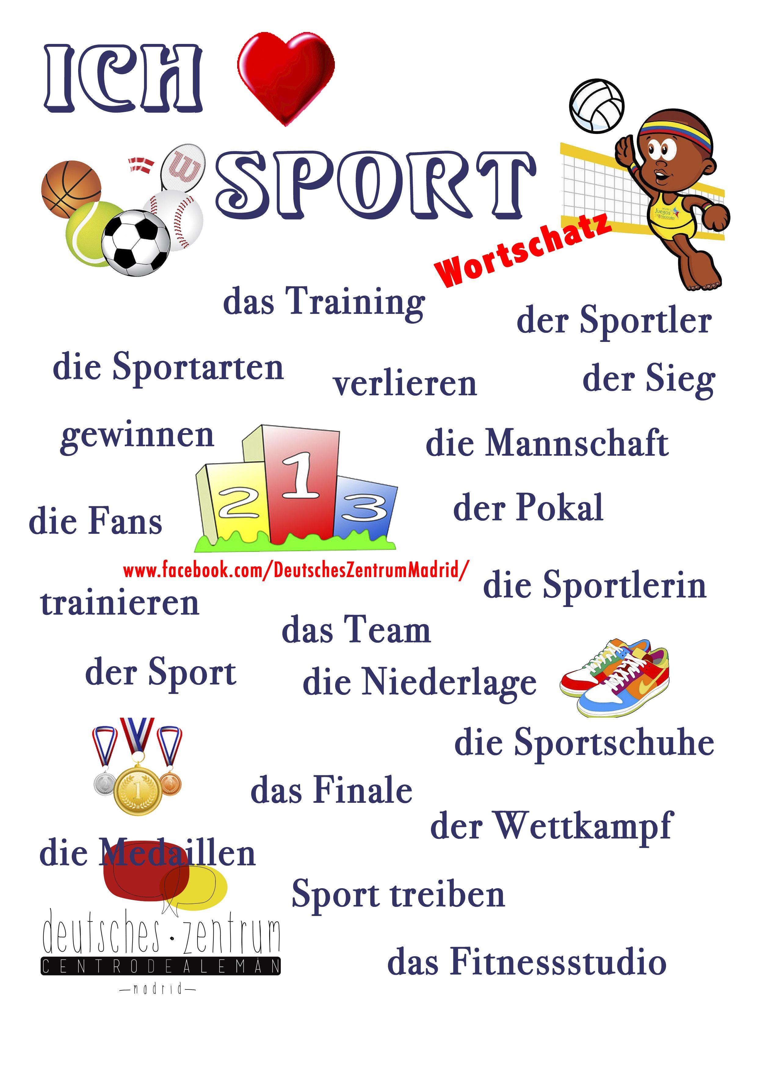 Sport Wortschatz Grammatik Aleman Vocabulario Daf German