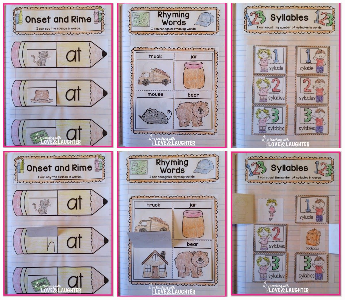 Teaching With Love And Laughter Kindergarten Phonics Interactive Notebooks
