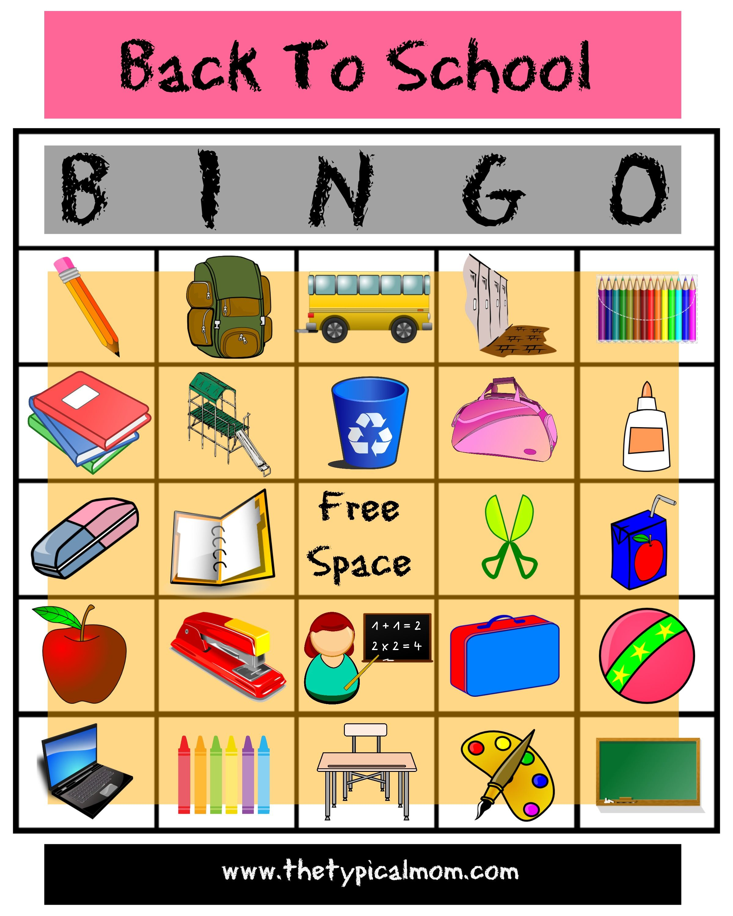 Here S Is An Awesome Free Printable Back To School Bingo Game Use In Your Classroom Or At Home