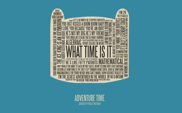 Adventure Time Wallpaper Typography