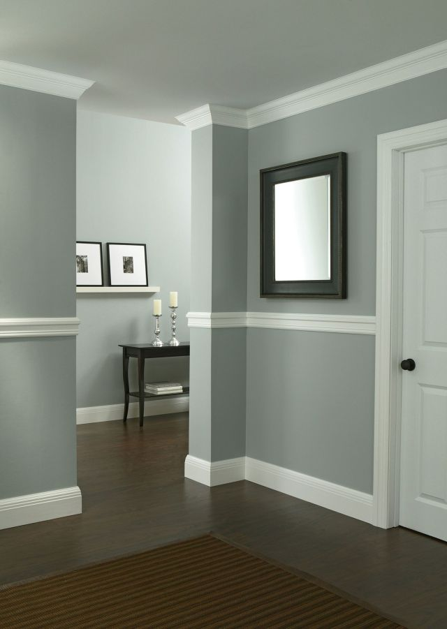It s easy to instantly upgrade your walls with molding squares Do