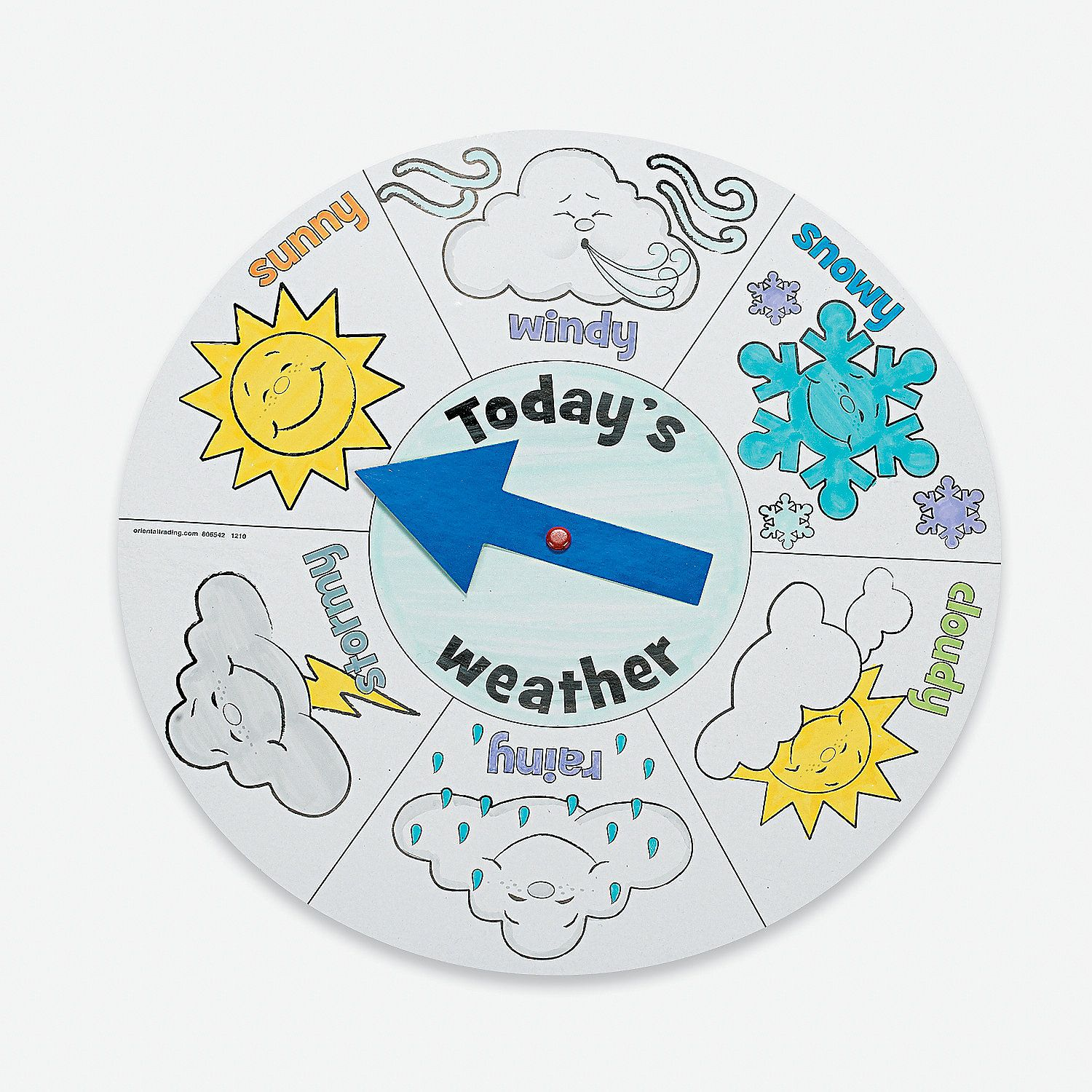 12 Color Your Own Weather Wheels Color And Spin Kids