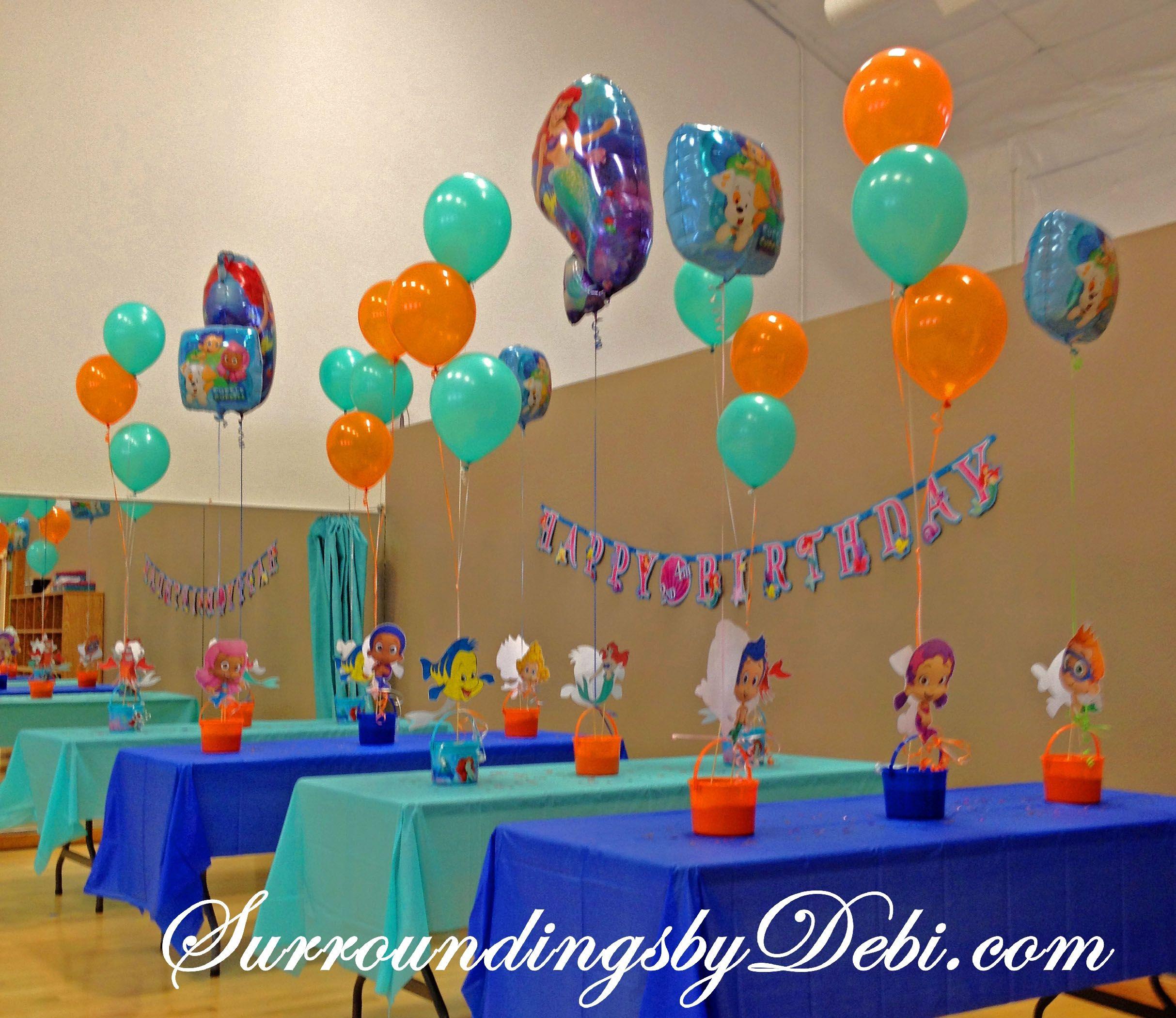 Bubble Guppies Centerpieces On Pinterest Bubble Guppies