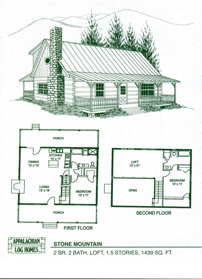 Cabin Home Plans With Loft Log Floor Kits Alachian