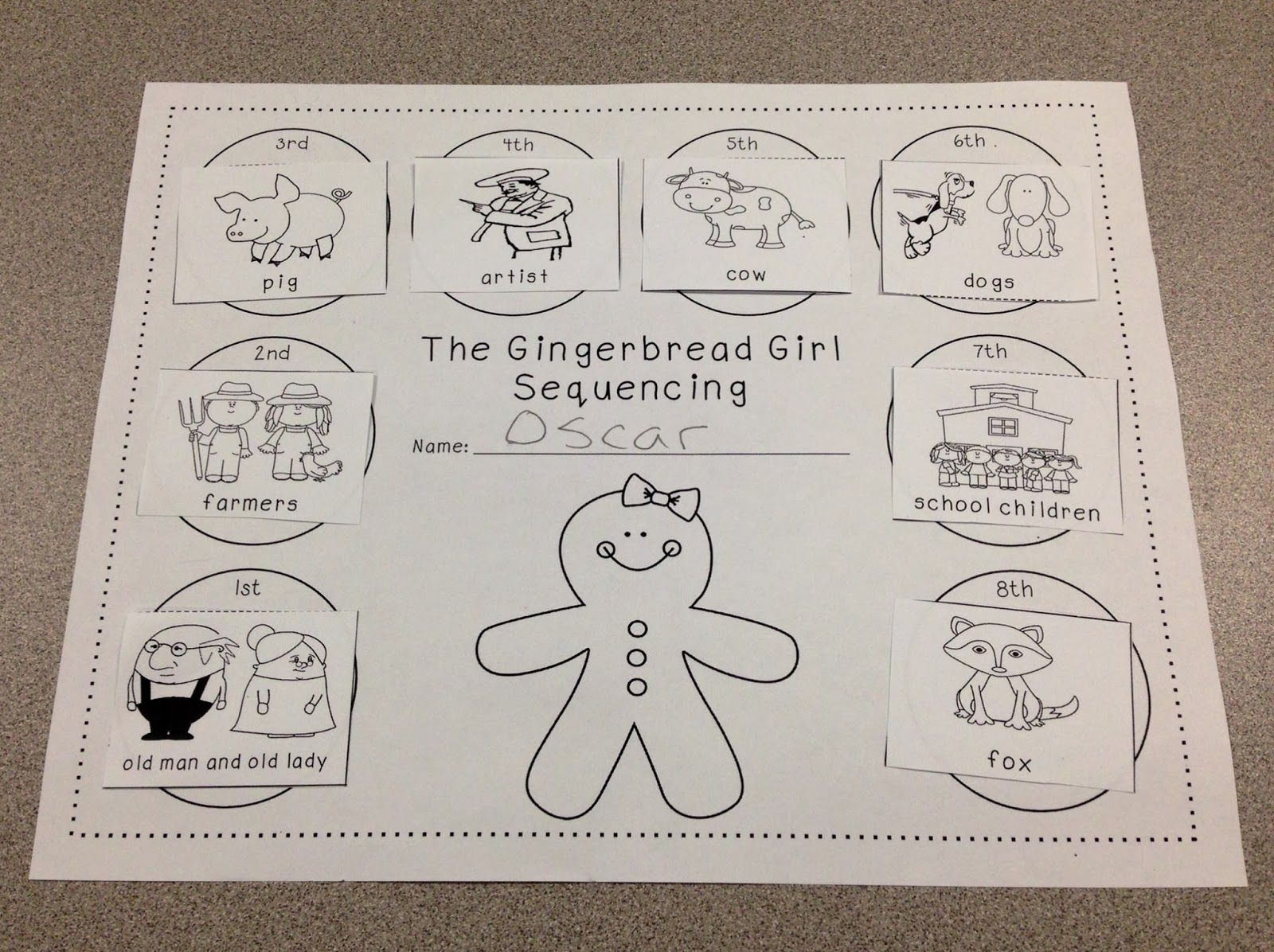 Gingerbread Girl Sequencing A Spoonful Of Learning Gingerbread Man