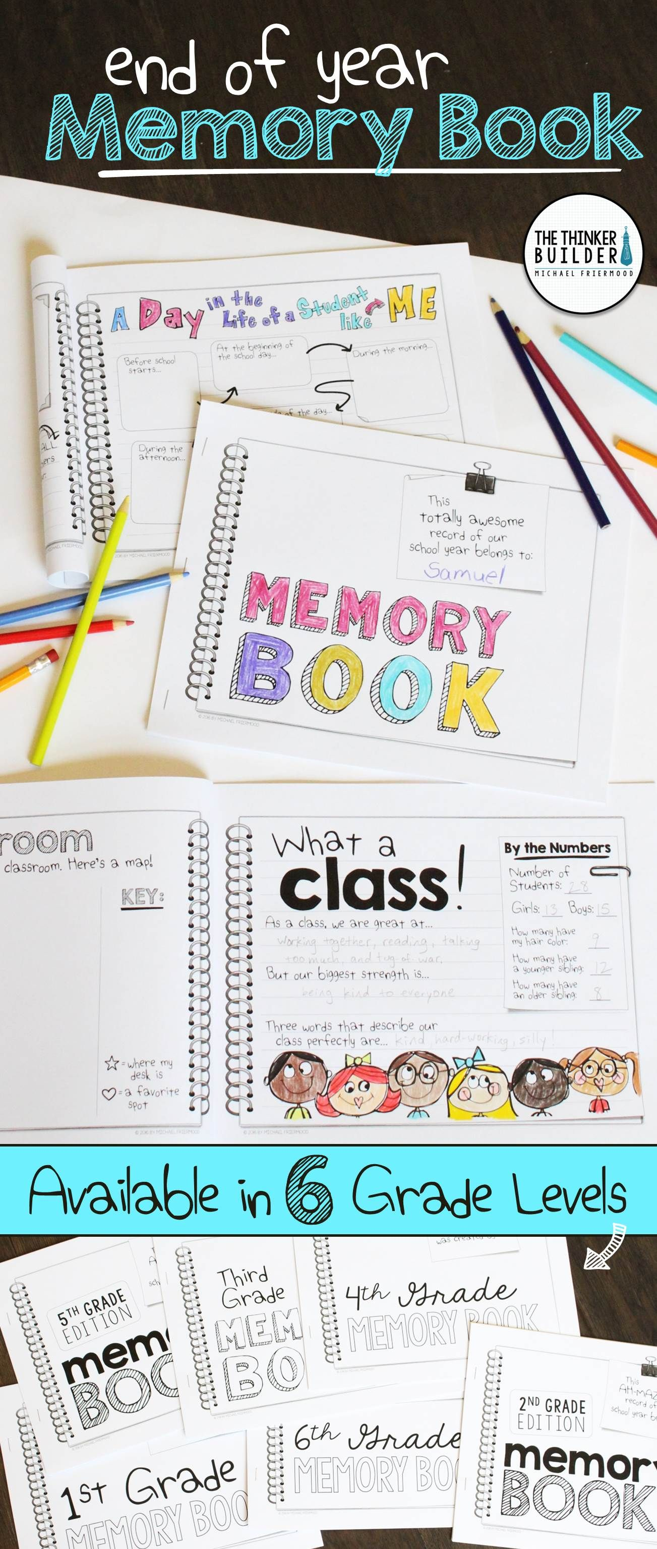 End Of Year Memory Book Non Grade Specific