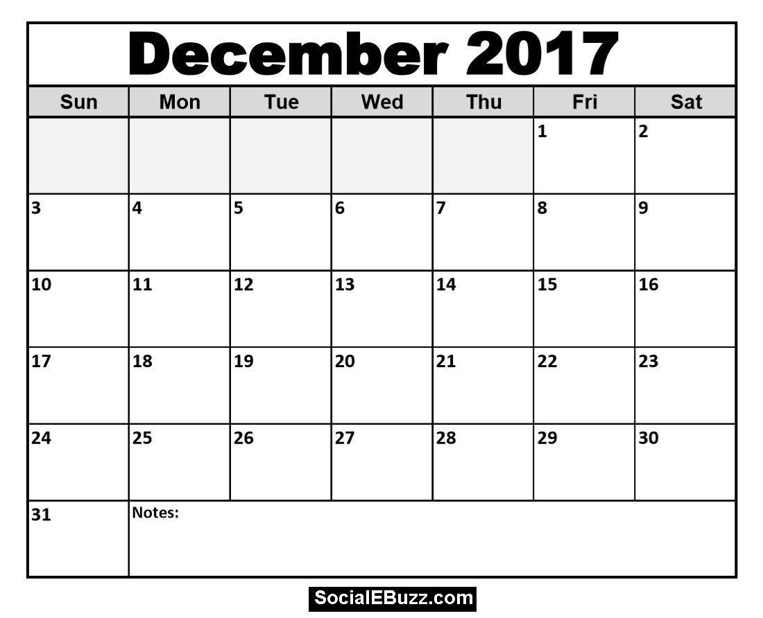 December Printable Calendar Socialebuzz December Calendar Printable