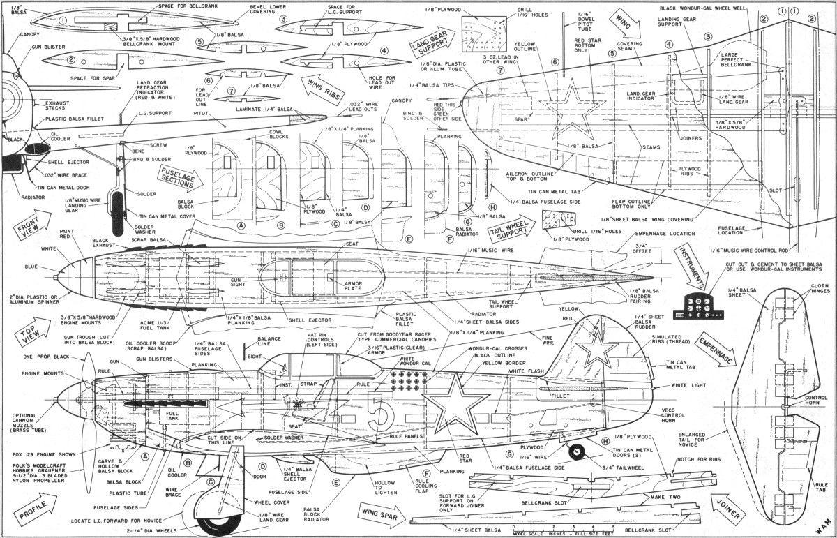 Yak 3 Plans Sep Oct Am X771 771