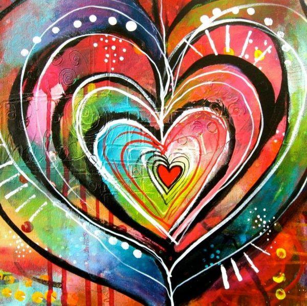 Heart Art by Belinda Fireman via www.facebook.com ...