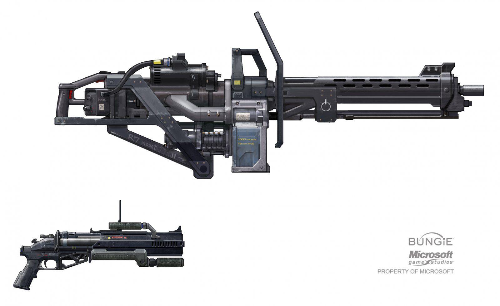 X981 Detachable Turret 2d Sci Fi Gun Spartan