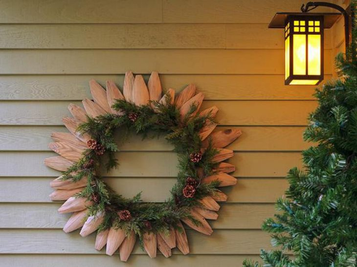 Picket Fence Wreath Reclaimed Wood Holiday Decorating Ideas Easy
