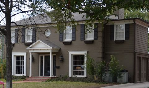 Painted Brick Homes Before And After Painting Over Exterior
