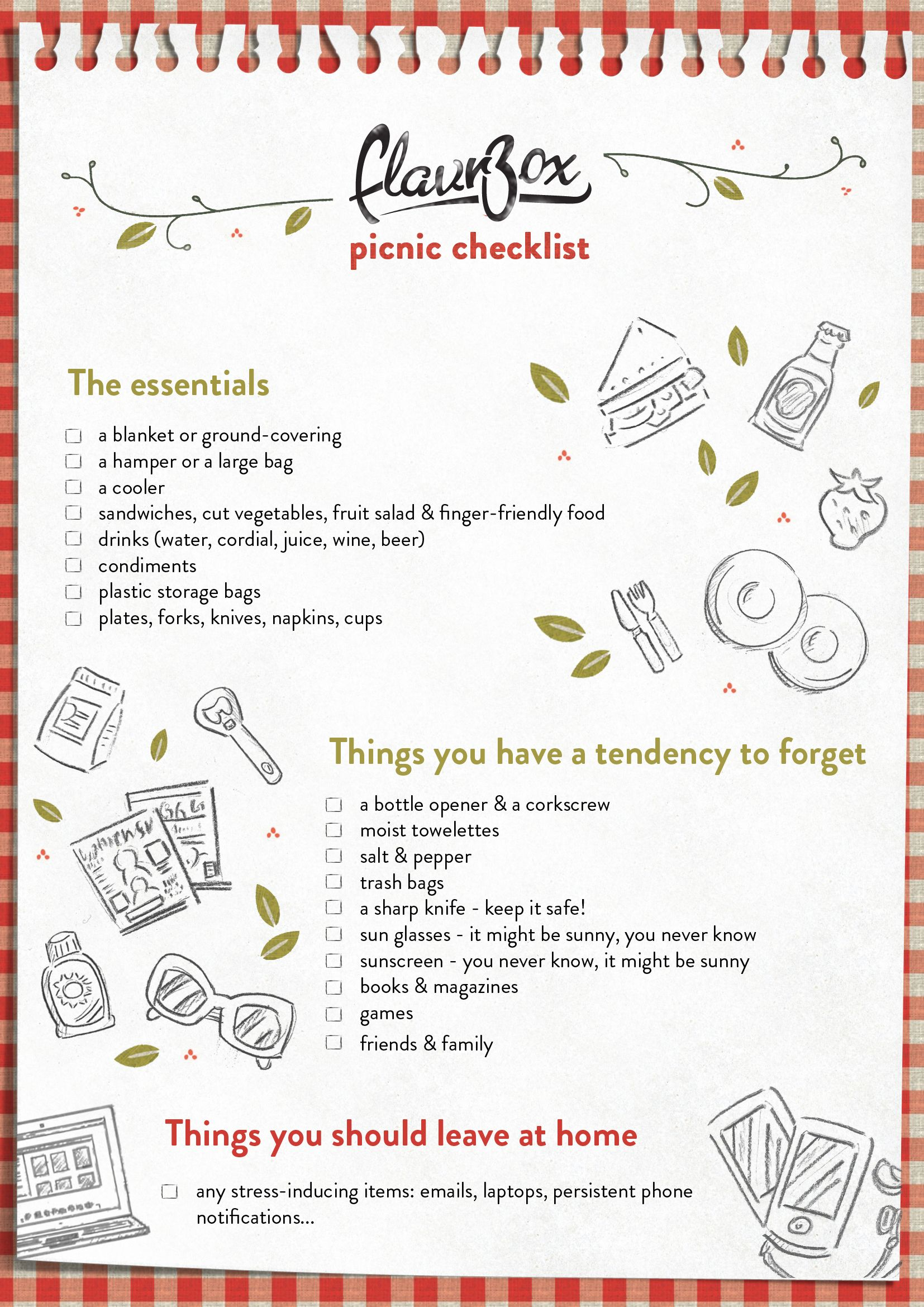 Picnic Checklist To Celebrate National Picnic Week