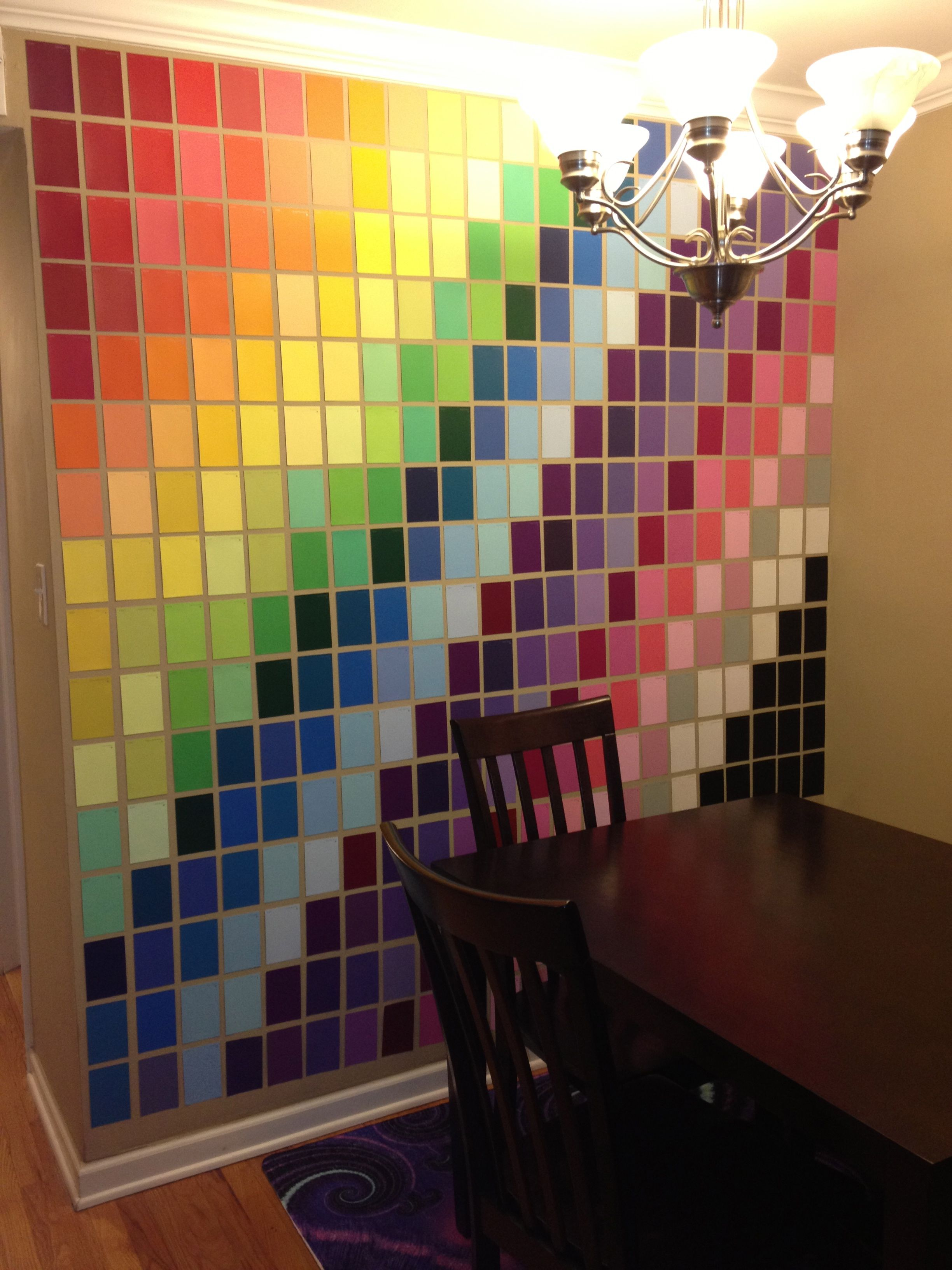 wall art made with paint samples from home depot art on home depot wall paint colors id=82483