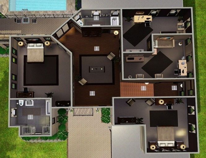 I Love This Layout For A House Sims 2 Plans