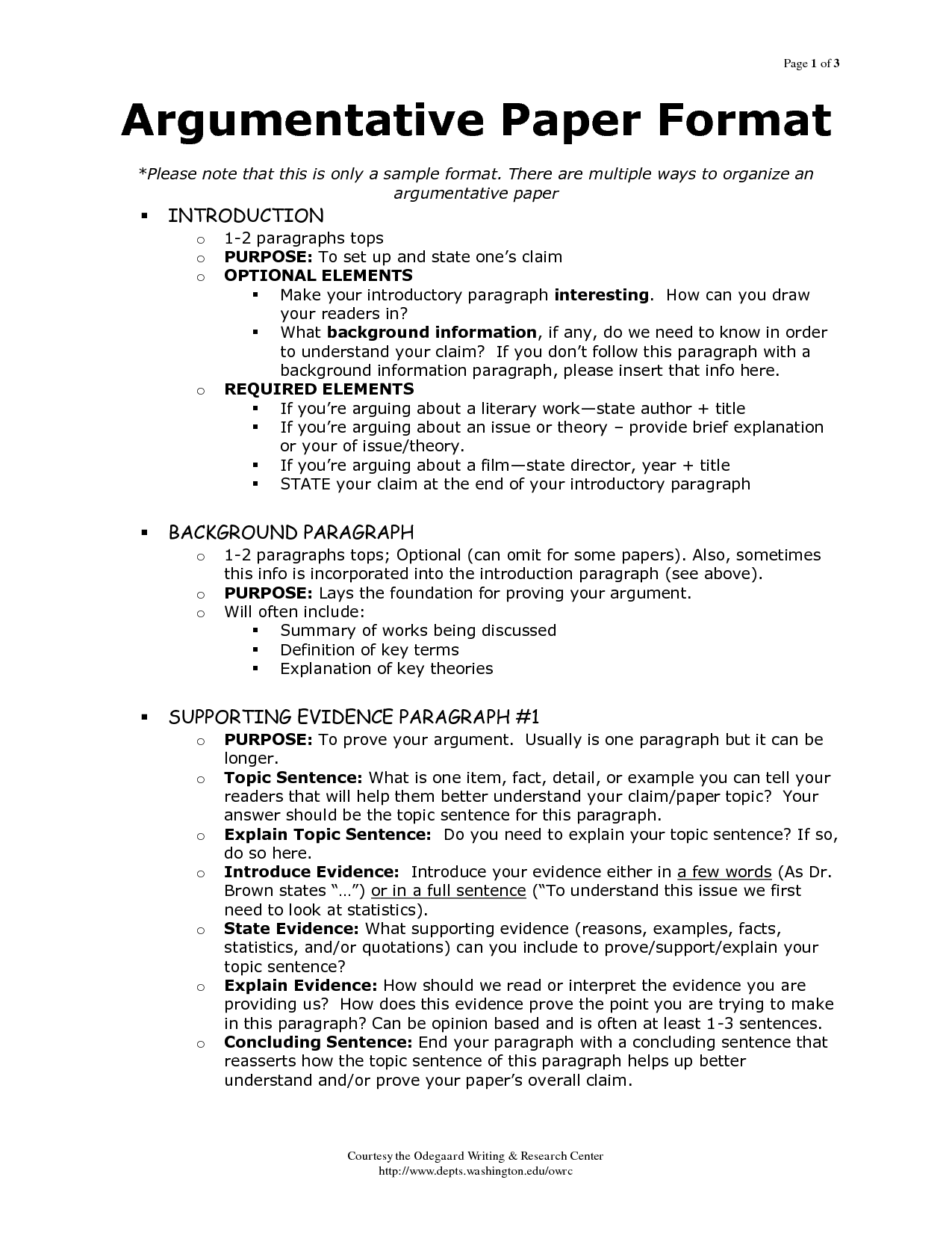 Argumentative Essay Writing Worksheets