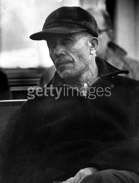 Portrait of Ed Gein, alleged mass murderer, who is said to ...