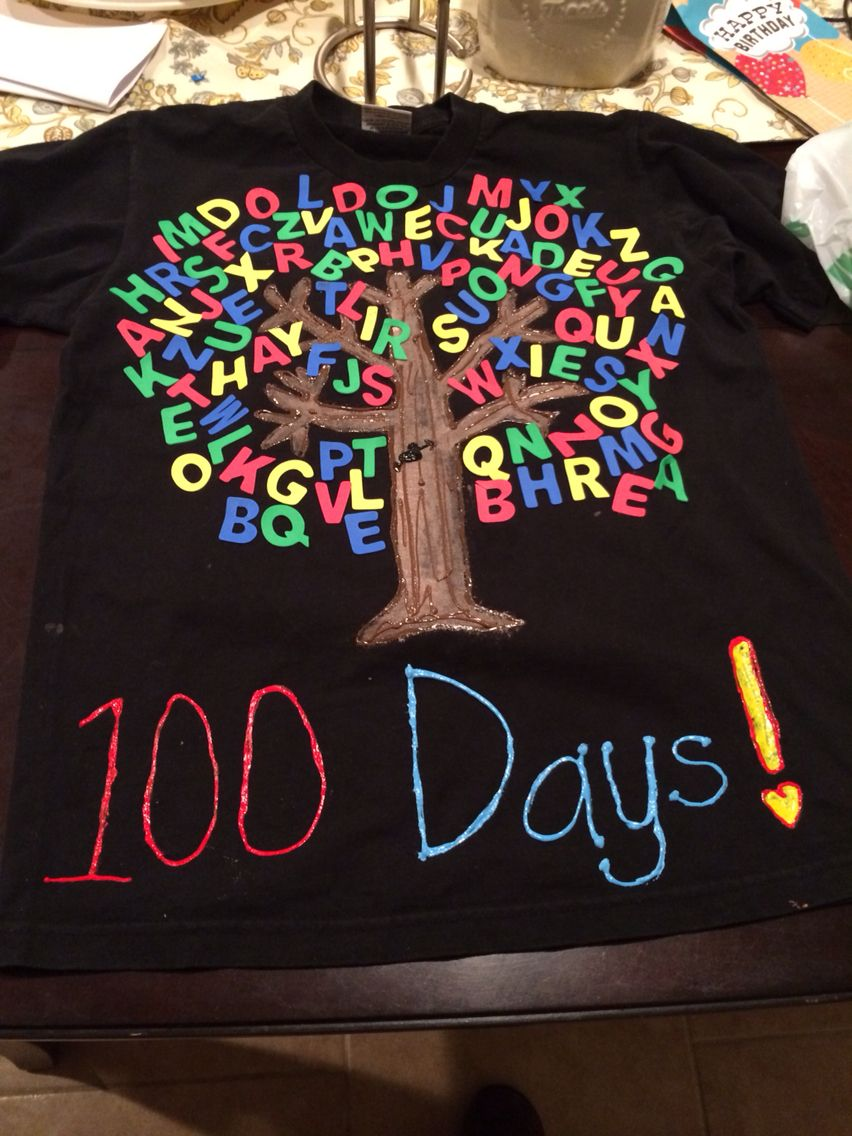 Download My 100th day of school t-shirt | kindergarten ideas ...