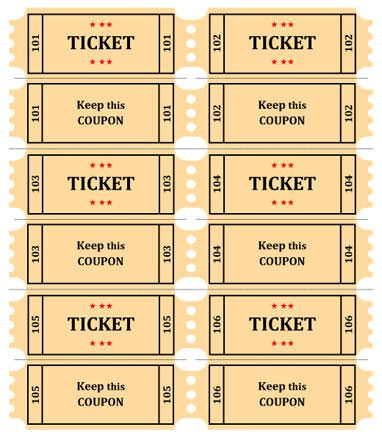 15 Free Raffle Ticket Templates Follow These Steps To