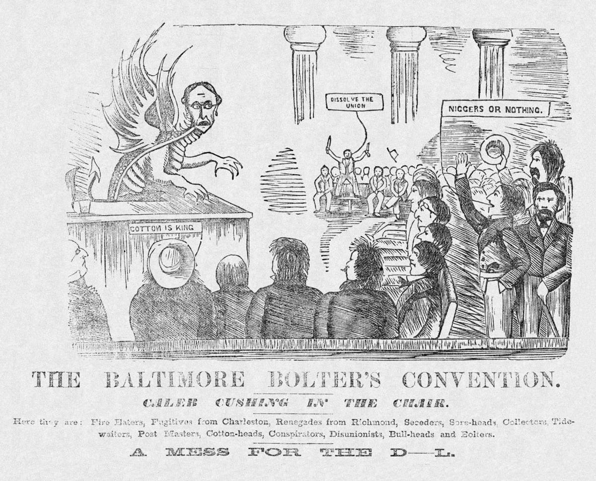 Jul 14 Cartoon Criticizing Pro Slavery Democrats