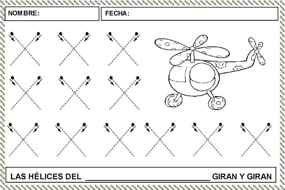 Fichas Para Trabajar El Trazo Cruzado Actividades Infantil