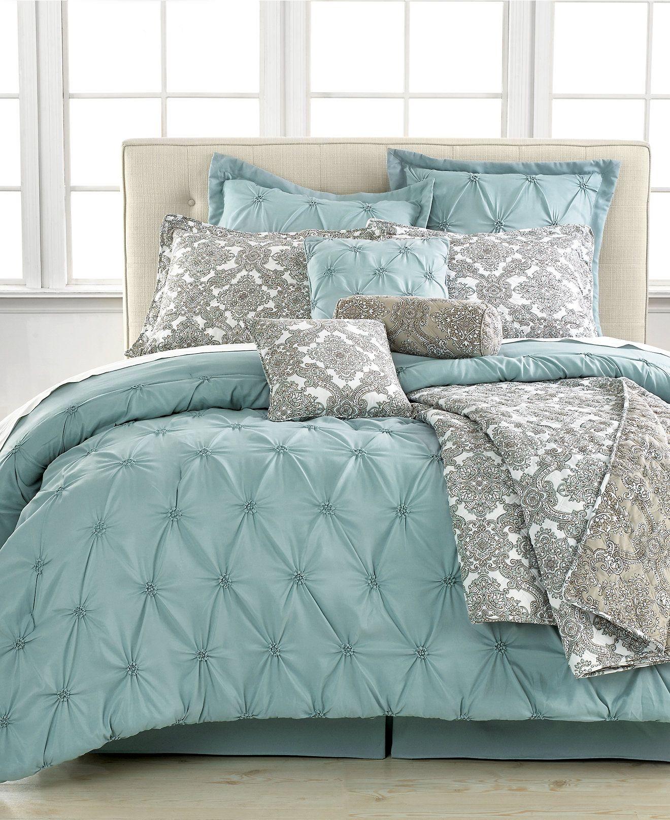 Jasmine Blue 10 Piece California King Comforter Set