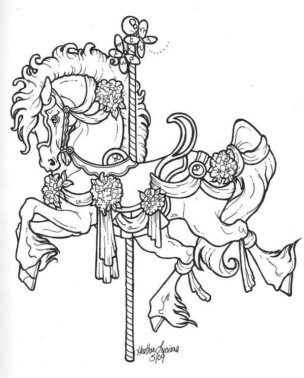 Carousel Coloring Pages Crimson Cave Dragon