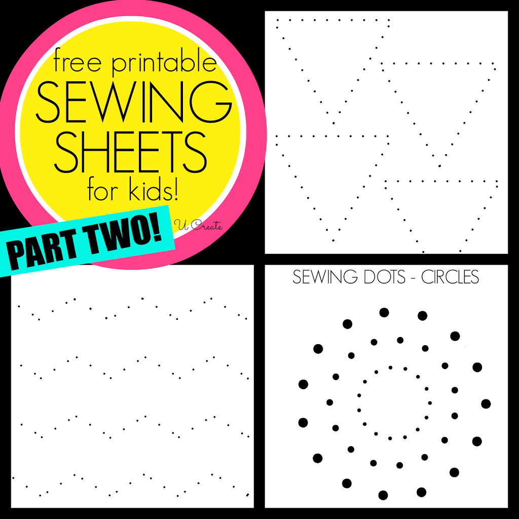 Sewing Sheets For Kids Part Two Like Dot To Dots But For Sewing Machines U Createcrafts