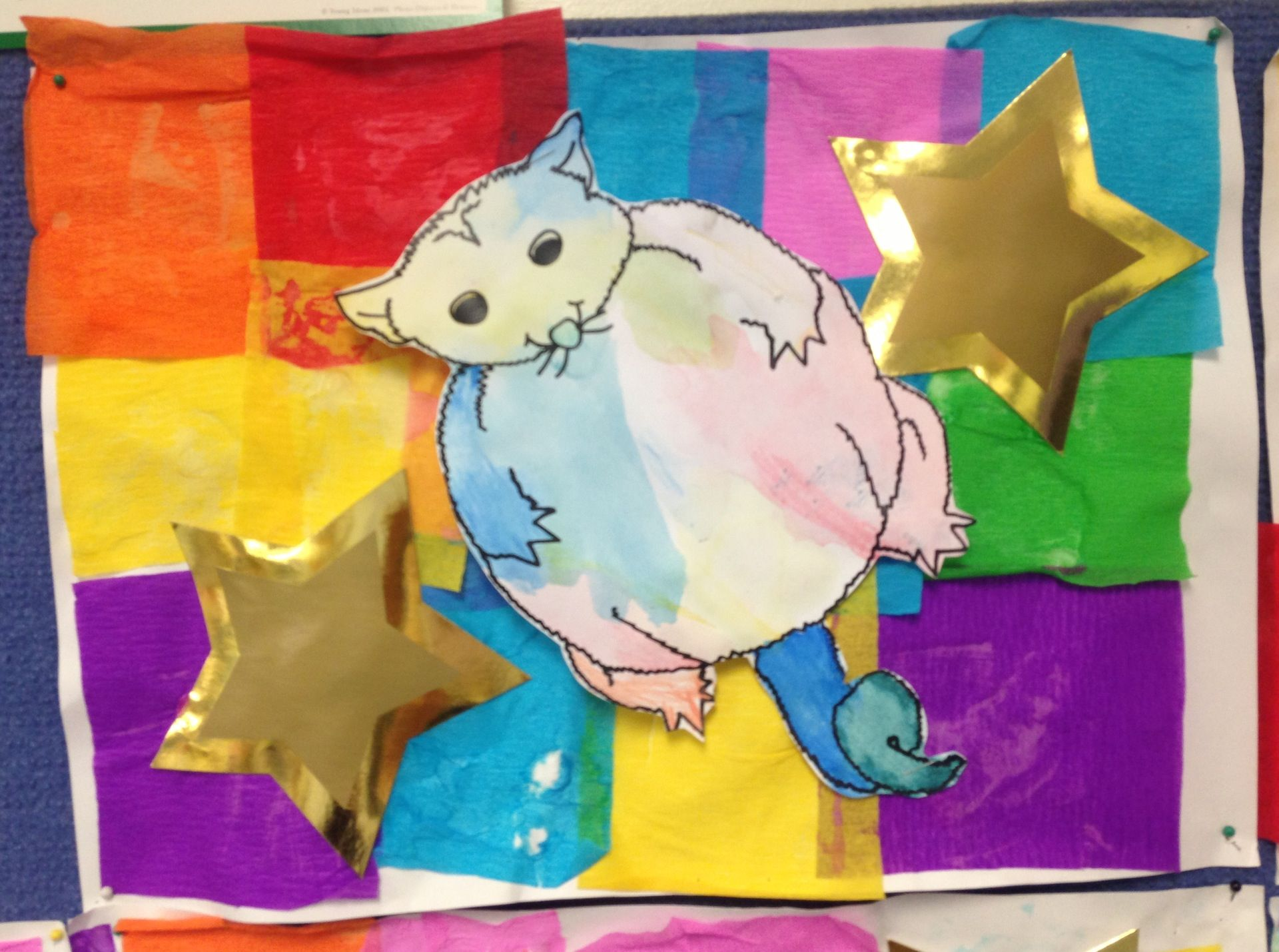 Possum Magic Mem Fox Crepe Paper Collage And Watercolour