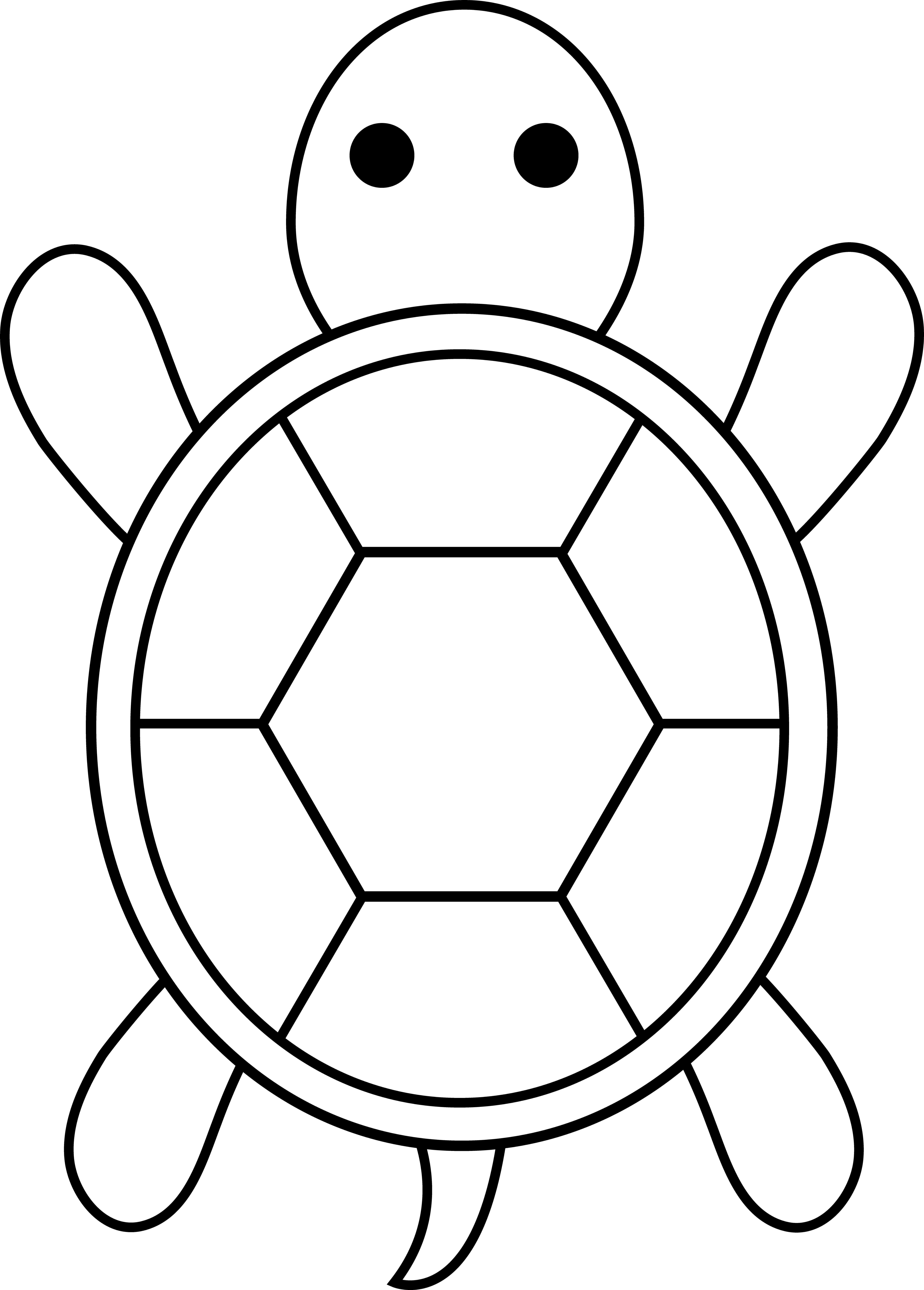 Easy Turtle Outline