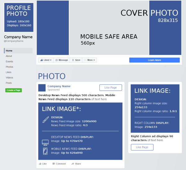 What is the size of the profile picture in Facebook? How ...