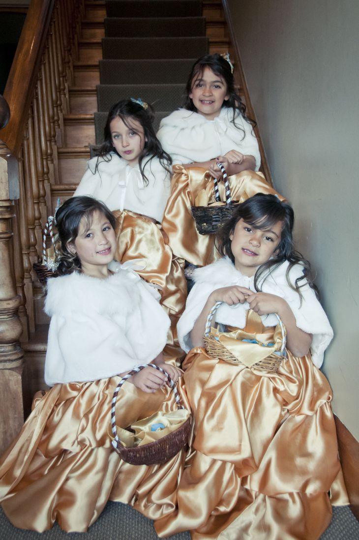 golden flower girls  wedding dresses  Pinterest  Wedding dress