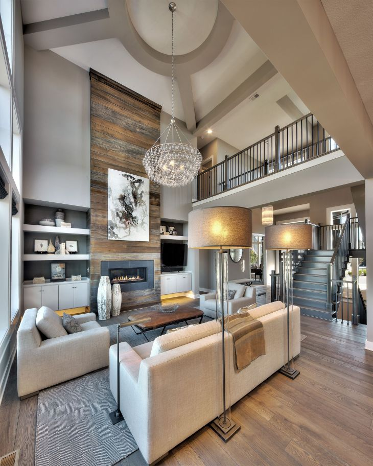 Loft and fireplace OfficeAdd on Pinterest Wood fireplace