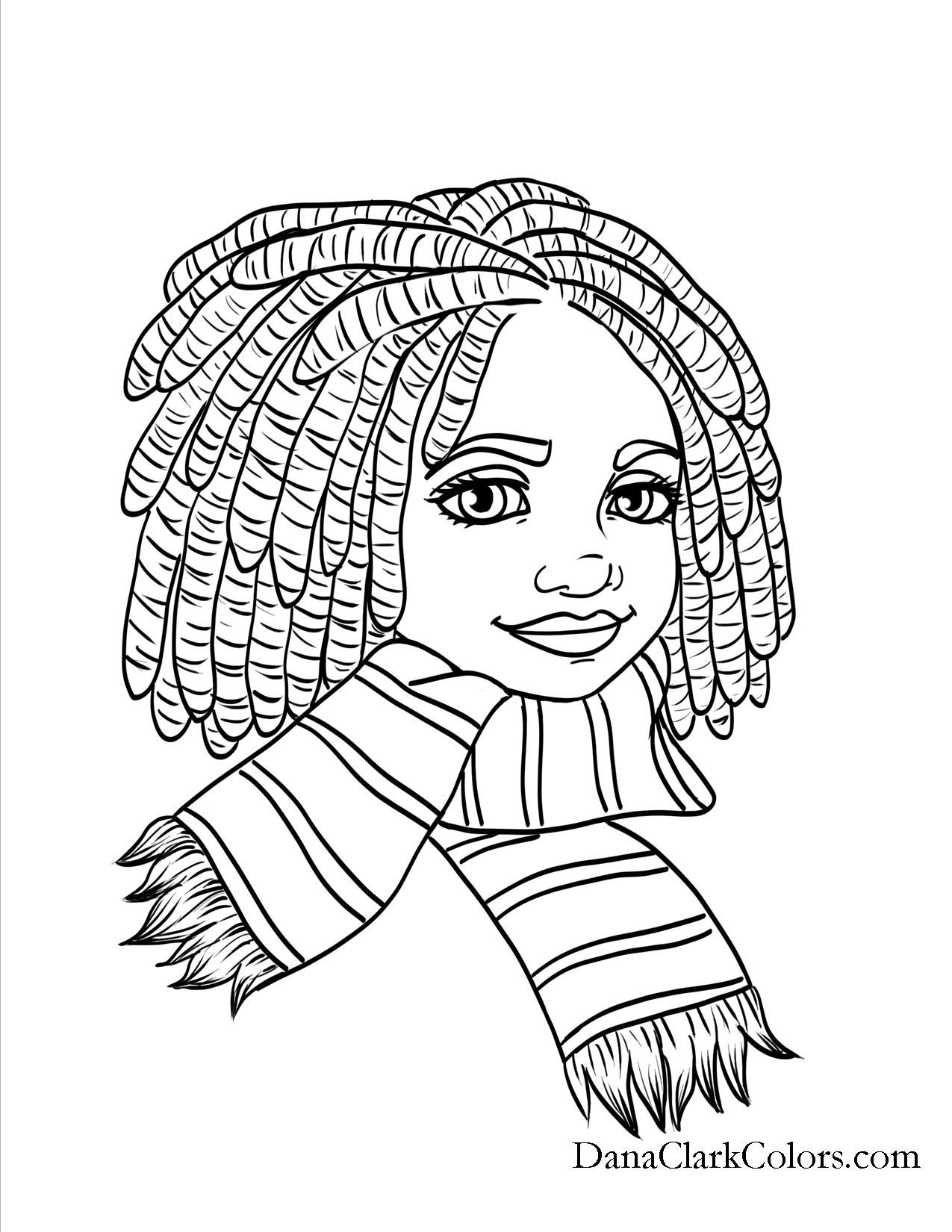 Black Kids Coloring Page Africanamericancoloringpage