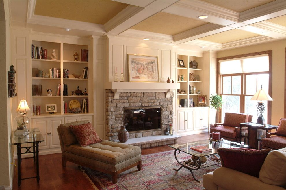Graceful Built In Bookcases Fireplace Decor Ideas In