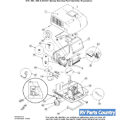 Duo Therm Rv Air Roof 3313189 000 Diagram