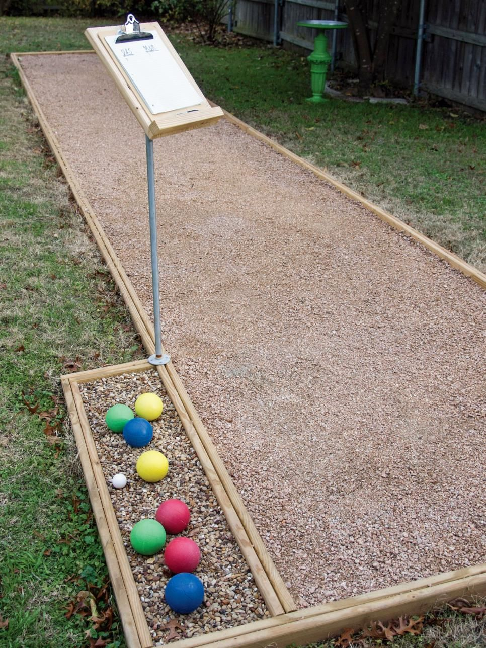 Build an outdoor bocce court bocce ball court hgtv and
