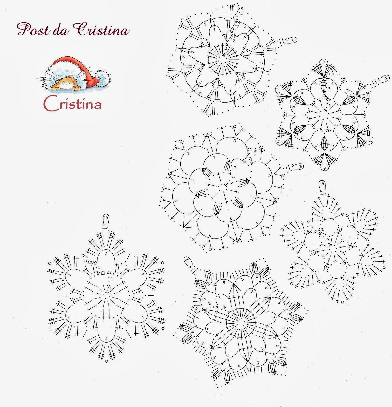 Snowflakes Crochet 106 Schema