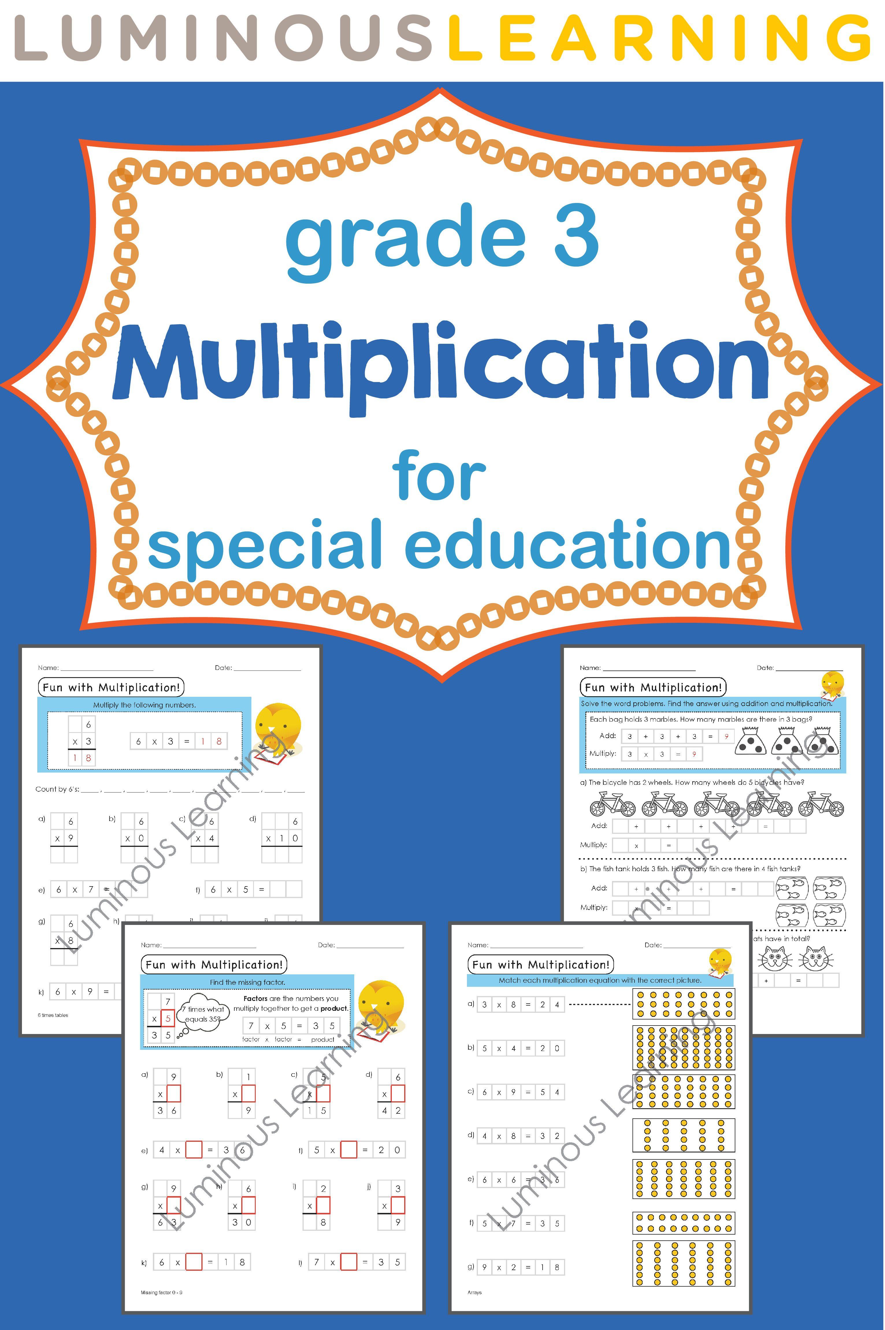 Grade 3 Multiplication Workbook Making Math Visual