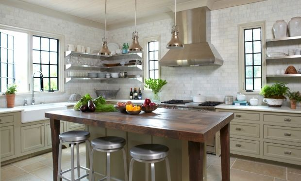 kitchens with no upper cabinets no upper cabinets eclectic u shaped white kitchen green on farmhouse kitchen no upper cabinets id=56622